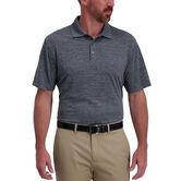 Space Dye Golf Polo, Black Marl 1