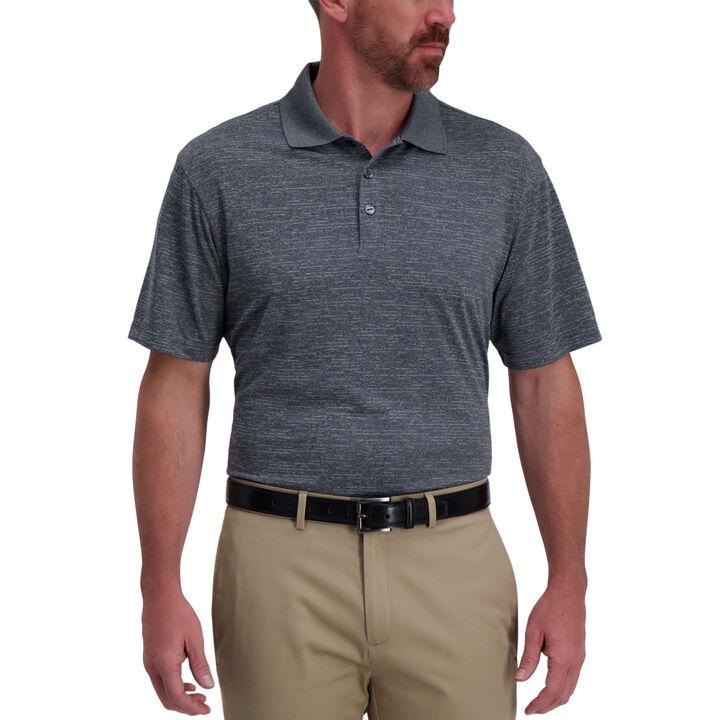 Space Dye Golf Polo, Black Marl