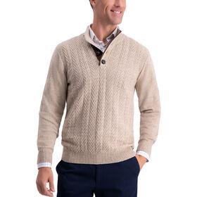 Chevron Texture Sweater, Khaki