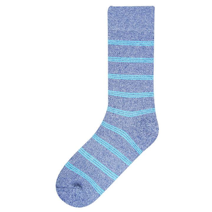 Marl Stripe Socks, Navy