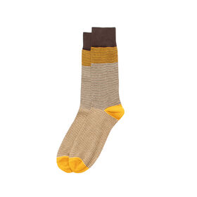 Micro Stripe Color Block Sock, Taupe