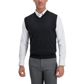 V-Neck Basic Sweater Vest, Bean