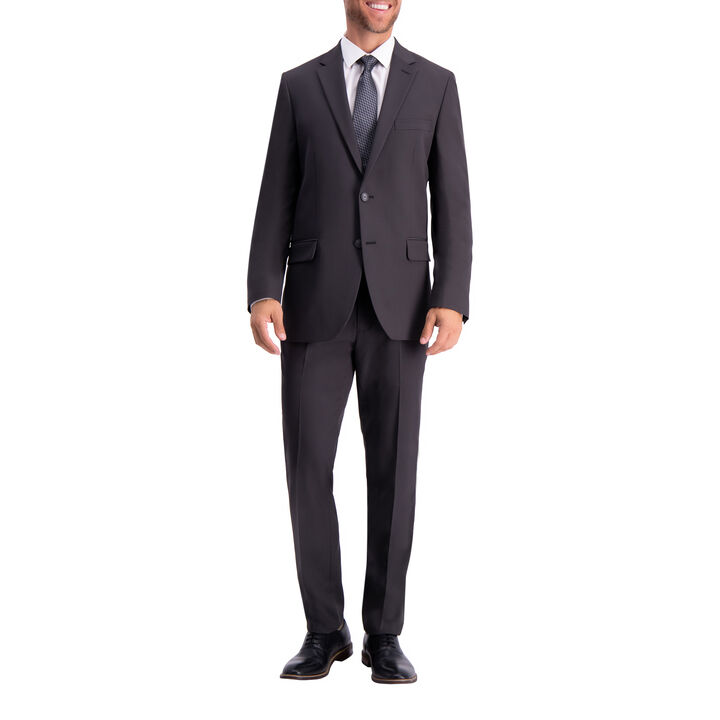 The Active Series™ Herringbone Suit Jacket, Black / Charcoal, hi-res