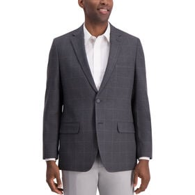 Glen Plaid Sport Coat, Black / Charcoal