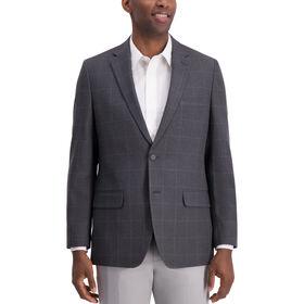 Glen Plaid Sport Coat, Black / Charcoal