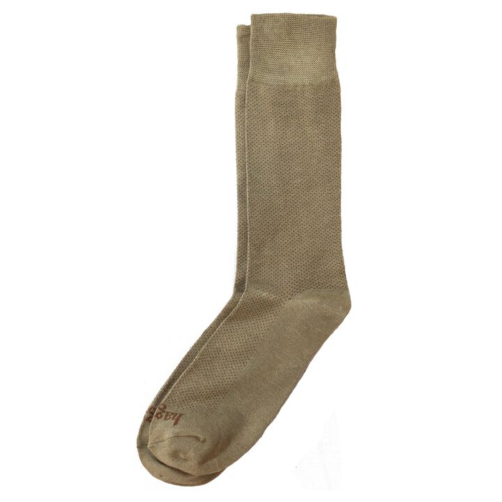 Dress Socks - Pin Dot, British Khaki