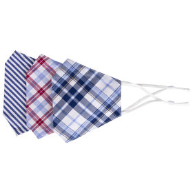 Be Wise Face Mask - Plaid/Stripe, Assorted