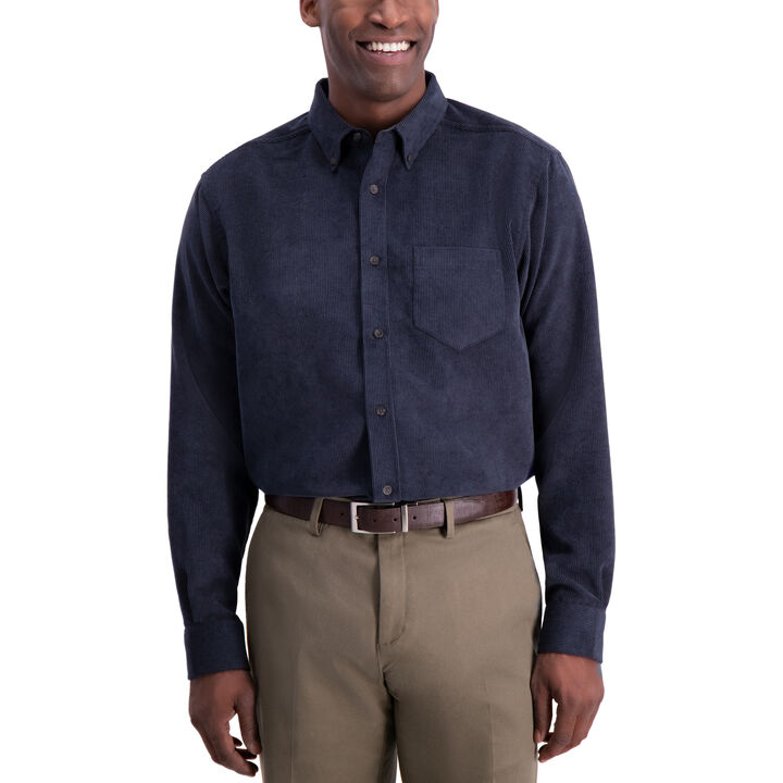 Corduroy Shirt, Navy