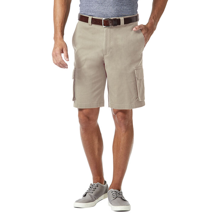 Stretch Cargo Short w/ Tech Pocket, Putty