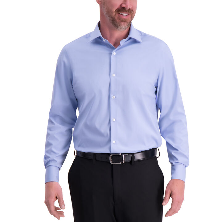 Solid J.M. Haggar Tech Performance Dress Shirt,  Light Blue