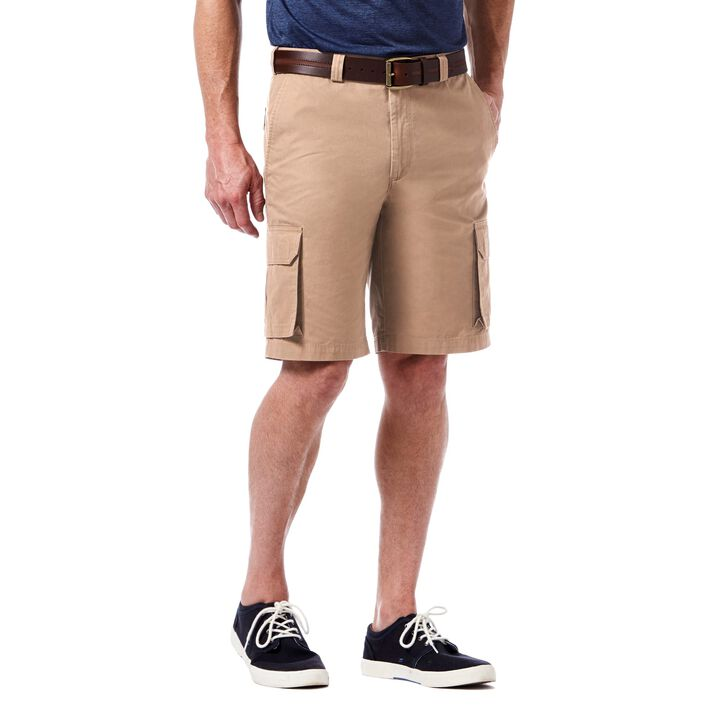 Canvas Cargo Short, Khaki
