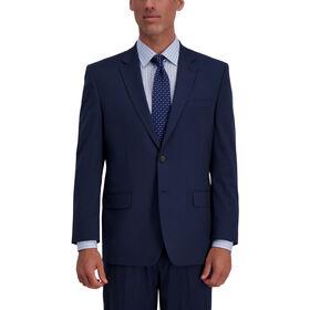 J.M. Haggar Houndstooth Suit Jacket, Navy