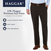 J.M. Haggar Premium Stretch Suit Pant, Chocolate, hi-res