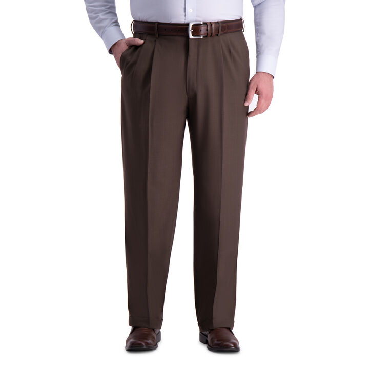 Big & Tall Premium Comfort Dress Pant, Dark Chocolate open image in new window