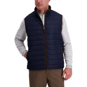 Channel Puffer Vest , Navy
