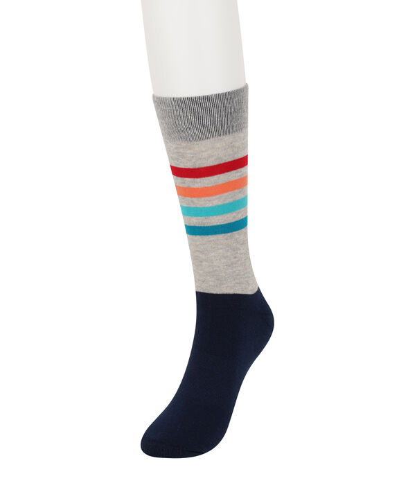 Navy Striped Socks, Navy