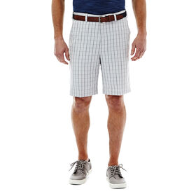 Cool 18® Pro Graphic Windowpane Short, Silver