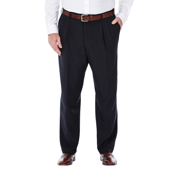 Big & Tall E-CLO™ Stria Dress Pant, Navy