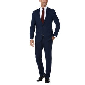 J.M. Haggar Premium Stretch Shadow Check Suit Jacket, Blue