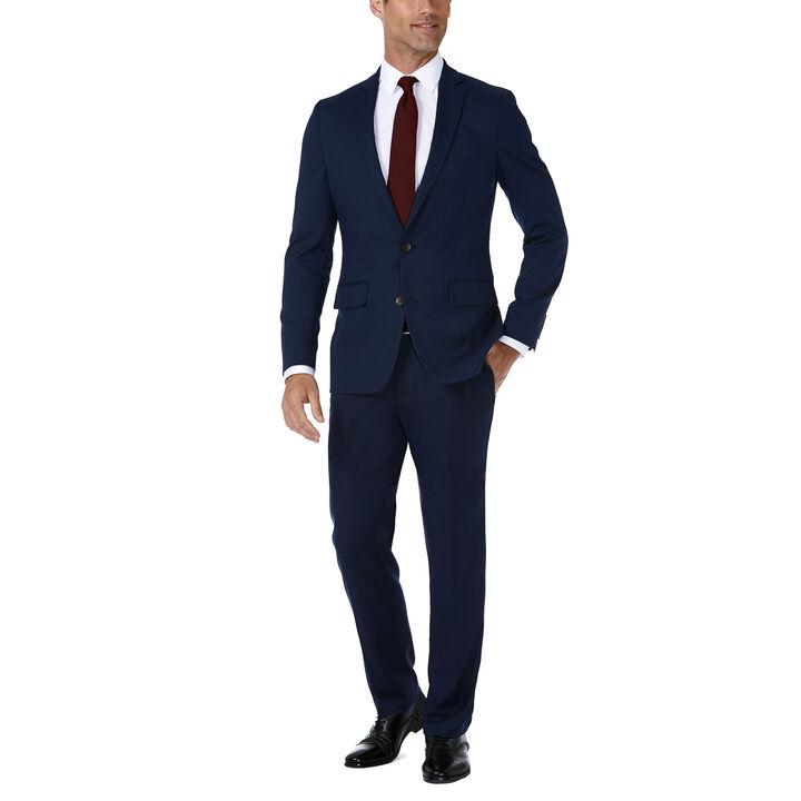 J.M. Haggar Premium Stretch Shadow Check Suit Jacket, Blue, hi-res