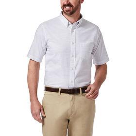 Slub Cotton Button Down Shirt , White