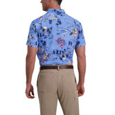 Hula Pineapple Floral Shirt, Delta Blue view# 2