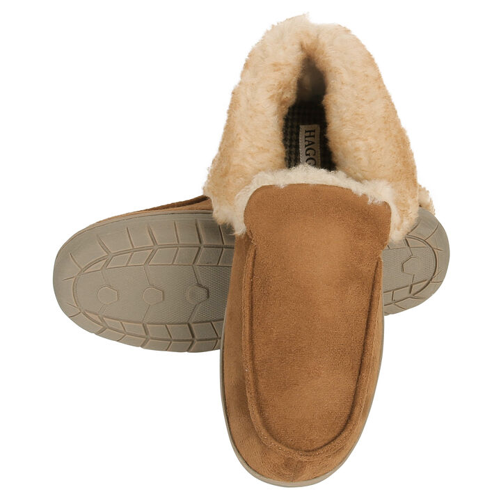 Microsuede Bootie Slippers, Khaki open image in new window
