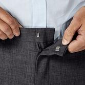 J.M. Haggar 4 Way Stretch Dress Pant, Medium Grey 4