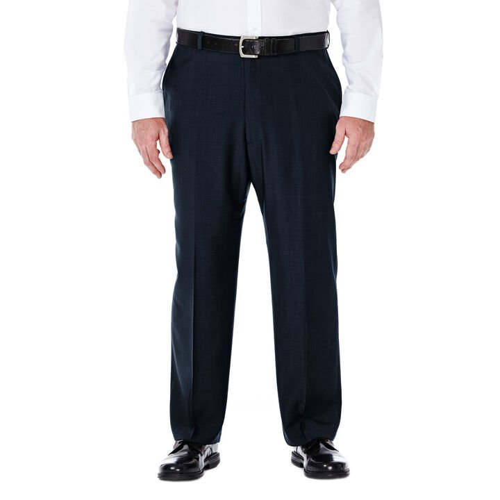 Big & Tall E-CLO™ Stria Dress Pant, Navy open image in new window