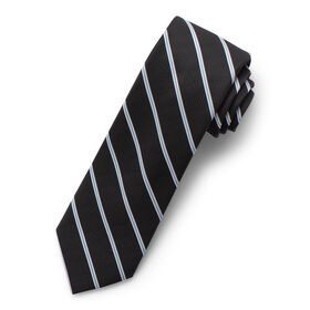 Wide Stripe Tie, Black