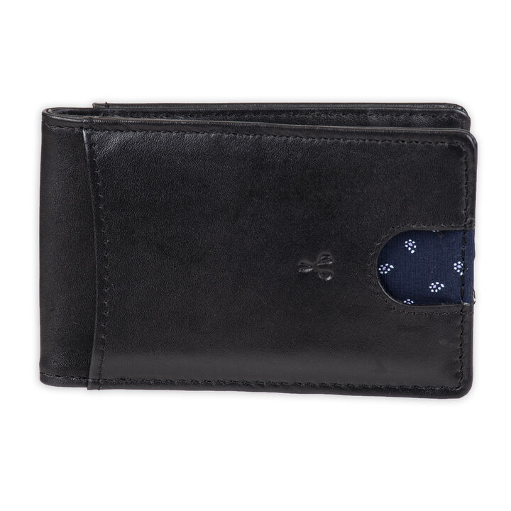 RFID Bifold Wallet with Removable Money Clip - Best Dad Ever Engraving, Black open image in new window