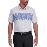 Blue Palm Cotton Shirt, Oxford Blue 1