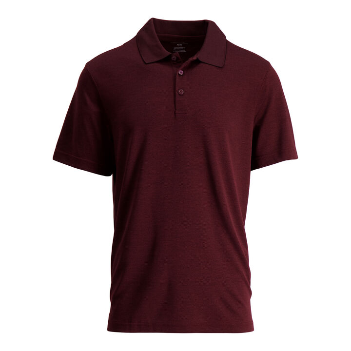 Cool 18® Pro Textured Golf Polo, Windsor WIne