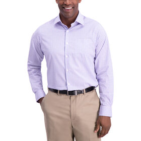Plaid Premium Comfort  Dress Shirt, Light Purple