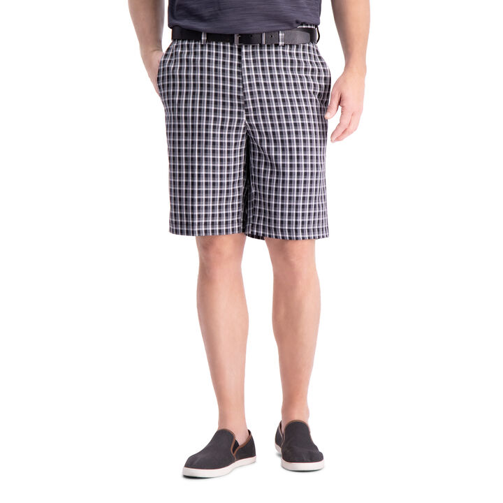 Cool 18® Pro Heather Check Short, Black open image in new window