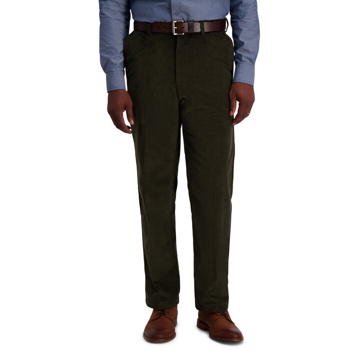 Stretch Corduroy Pant, Military Green