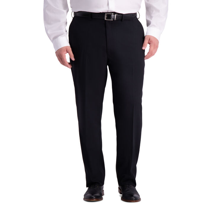 Big & Tall Travel Performance Heather Twill Suit Pant, Black open image in new window