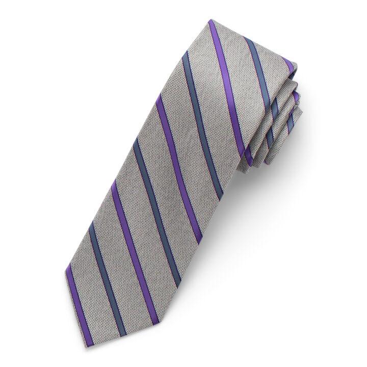 Heather Striped Tie, Purple