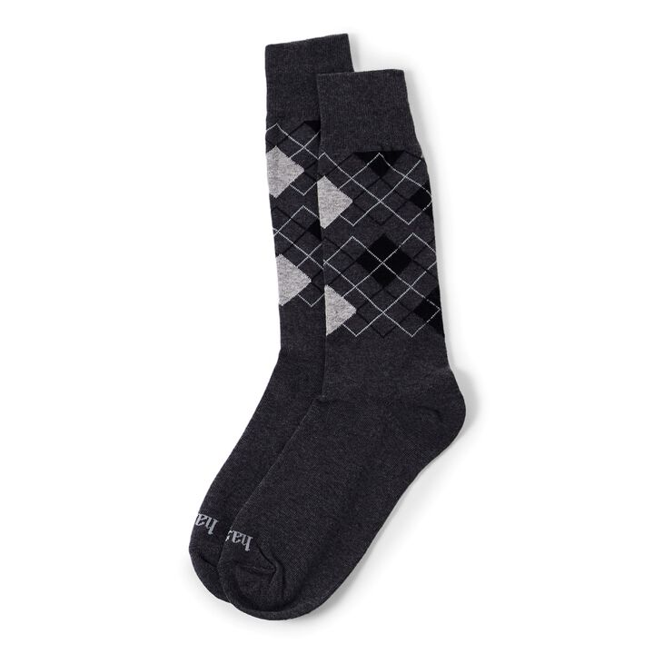 Argyle Sock, Black