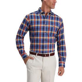 Gingham Plaid Shirt, Blue