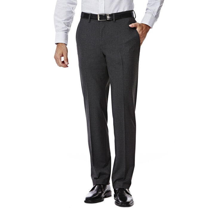 JM Haggar Slim 4 Way Stretch Suit Pant, Charcoal Heather open image in new window
