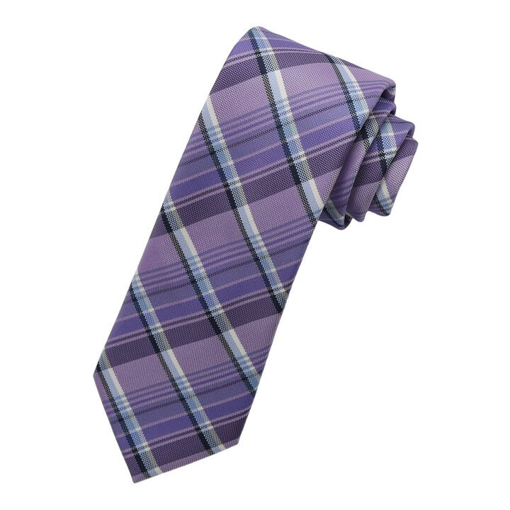 Overplaid Tie, Purple