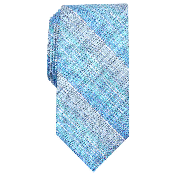 Warner Plaid Tie, Navy