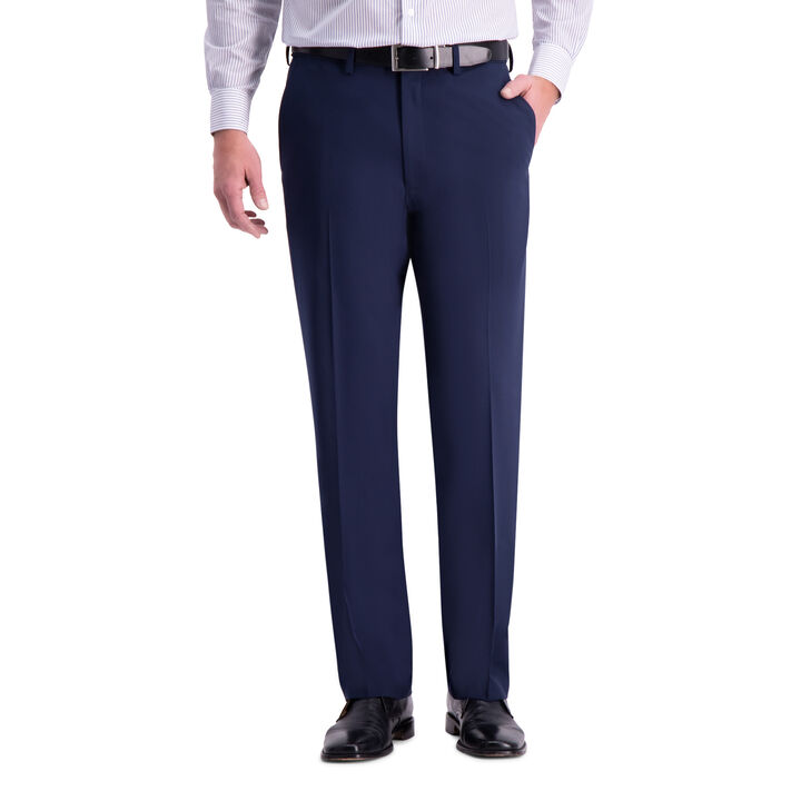 J.M. Haggar 4-Way Stretch Suit Pant, Blue open image in new window