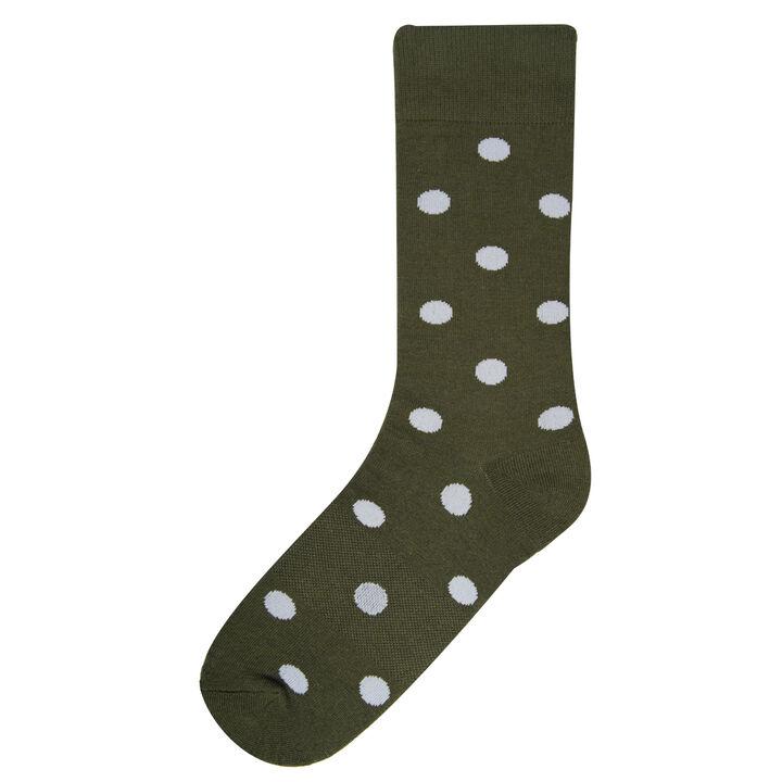 Medium Polka Dot Socks, Taupe