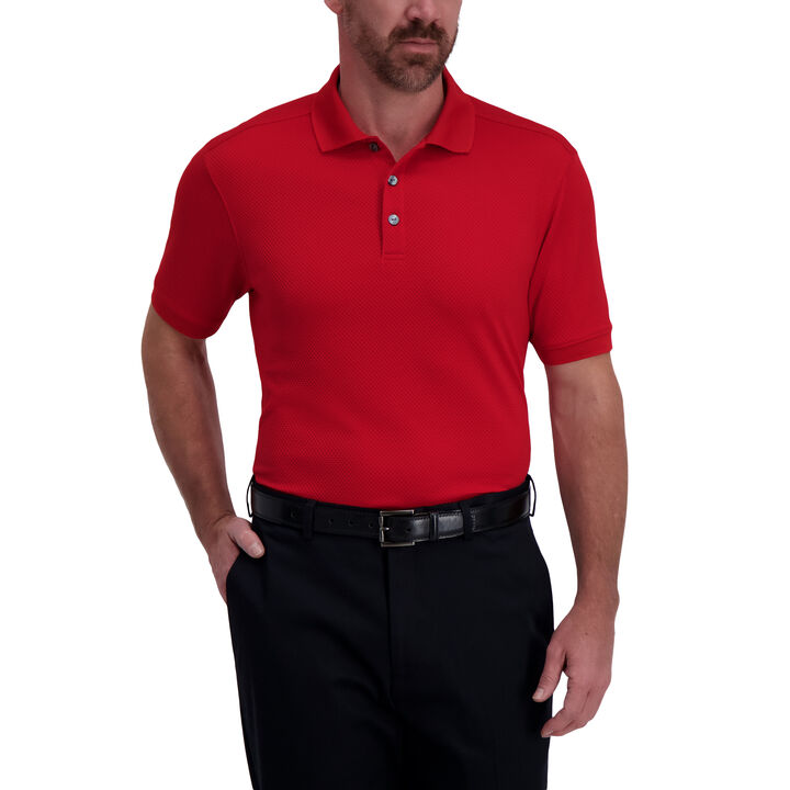 Cool 18® Pro Waffle Textured Golf Polo, Jester Red