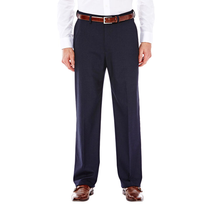 J.M. Haggar Premium Stretch Suit Pant - Flat Front, Dark Navy open image in new window