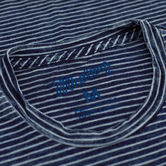 True Indigo Striped Crew Shirt, Indigo view# 3