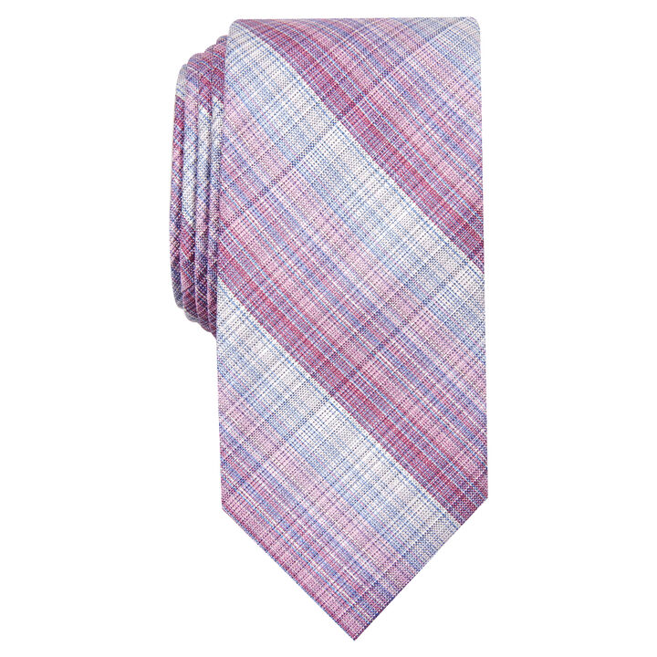 Warner Plaid Tie, Pink