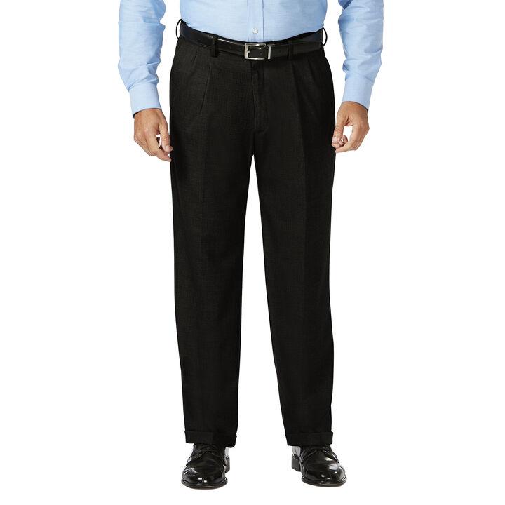 Big & Tall J.M. Haggar Dress Pant - Sharkskin, Black